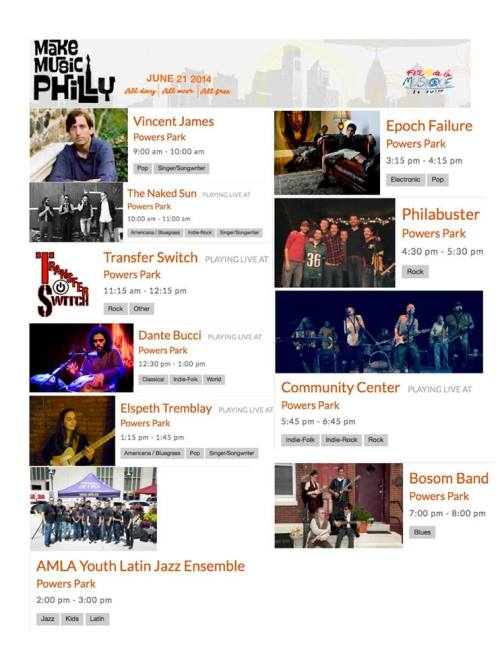 2014 Make Music Philly